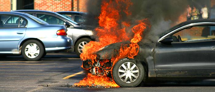 incendio de carro