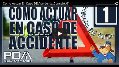Cómo actuar en caso de accidente. Vídeo consejo 01