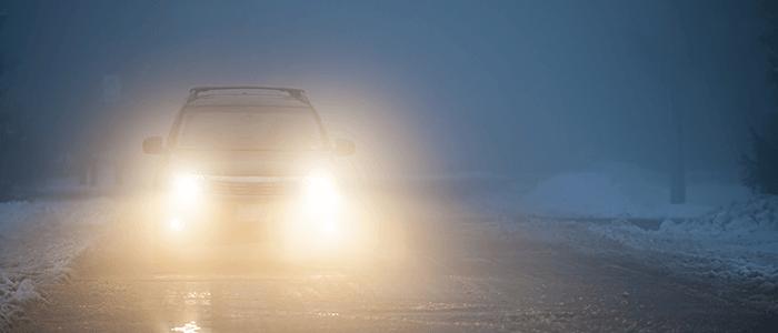 niebla en la conducción