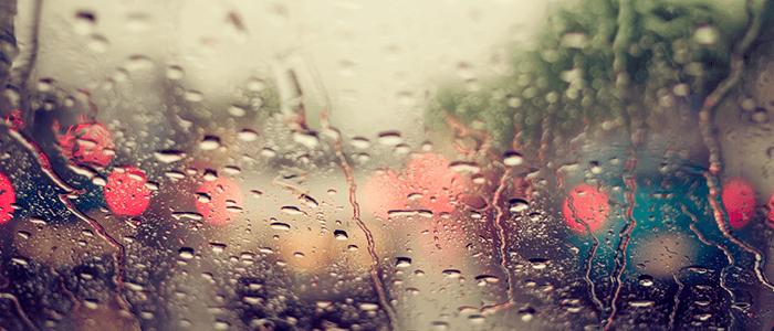 lluvia en la conducción
