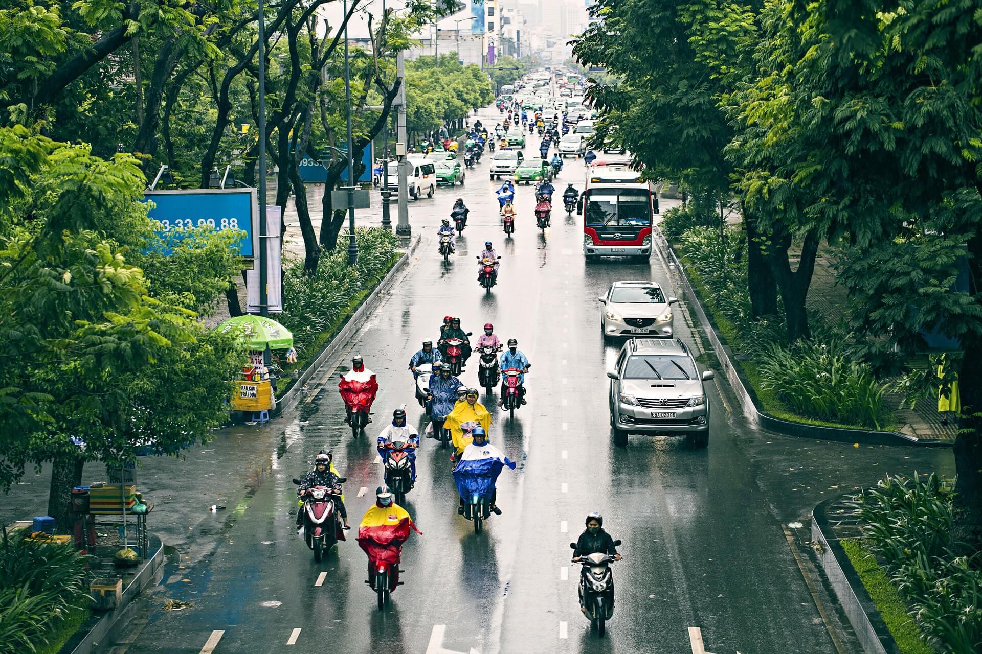 evitar un accidente de moto