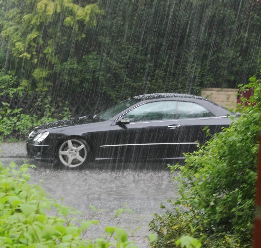 Conducción en tormentas severas
