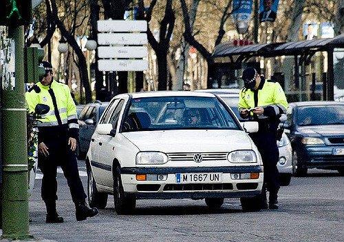 las multas de tráfico más frecuentes