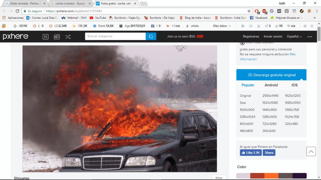 ¿Es necesaria una reconstrucción de accidente de tráfico por incendio de un vehículo?