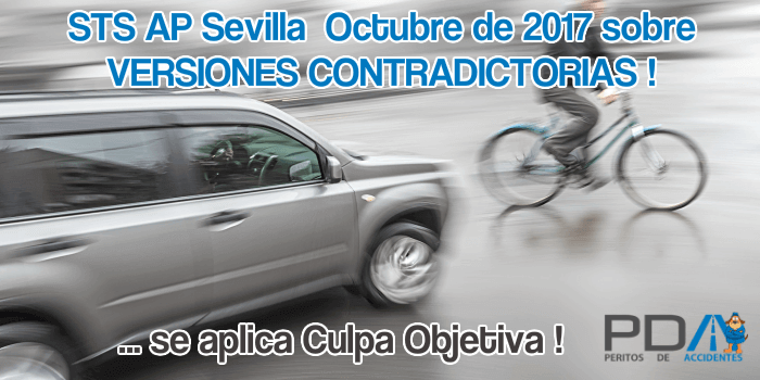 Versiones Contradictorias en una colisión lateral Bicicleta – Turismo