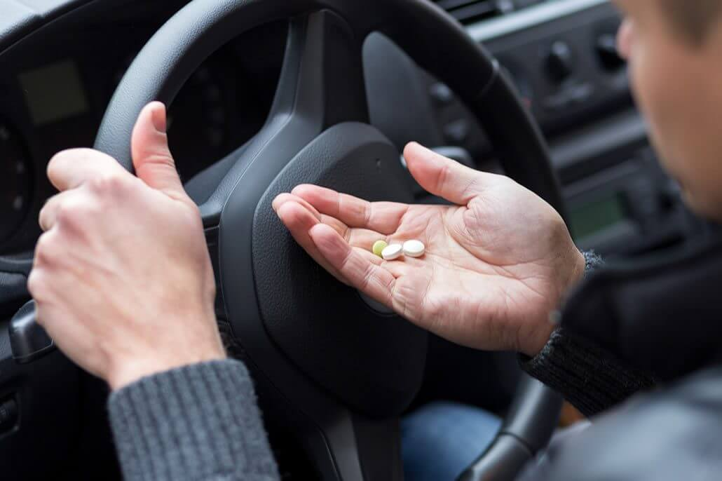 sedantes en la conducción