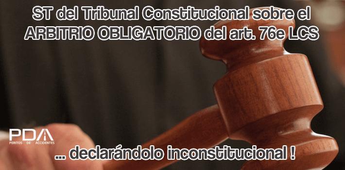 Sentencia TC declarando art. 76e LCS inconstitucional