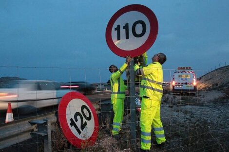 reducción del límite de velocidad en carretera en España