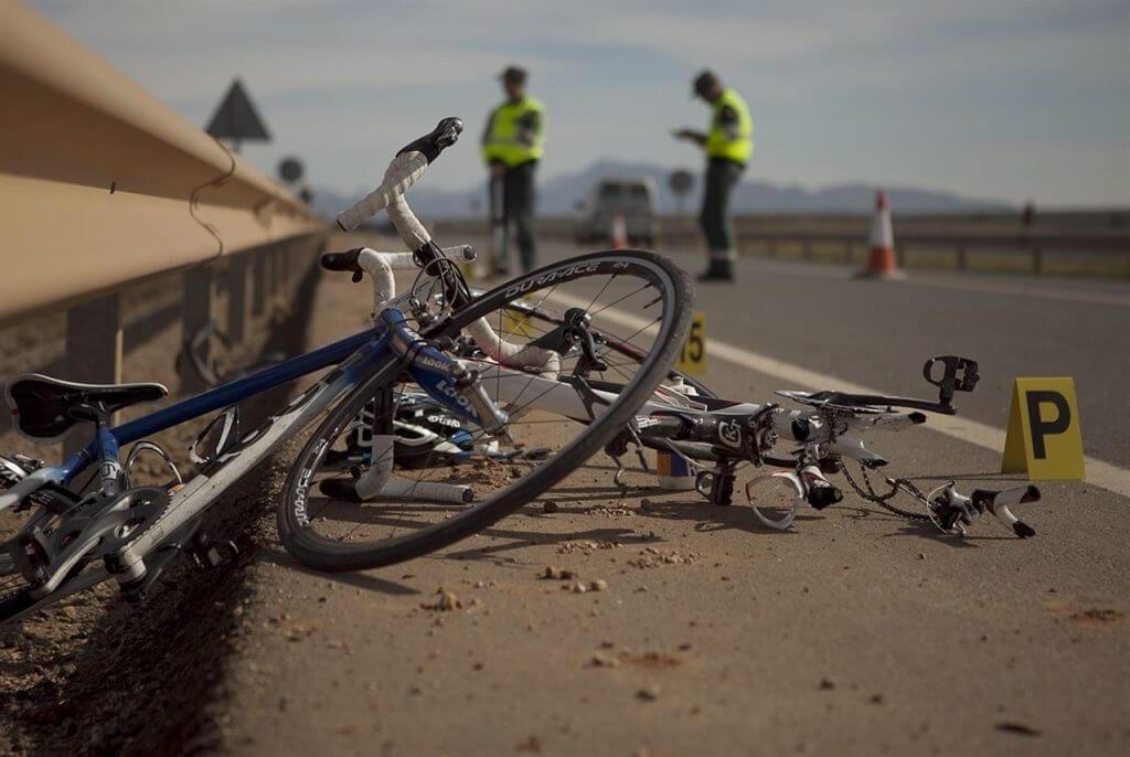accidente con bicicleta