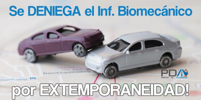 Presentacion extemporanea del Informe Biomecánico de Relación de Causalidad