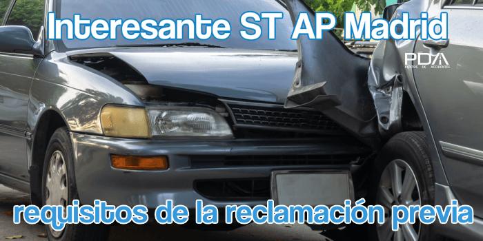 St. AP Madrid: Reclamación Previa en Colisión por Alcance Múltiple